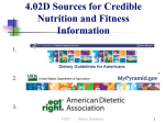 4.02 D Dietary Guidelines