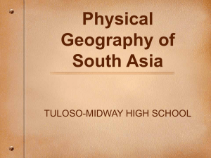Geography of South Asia - Tuloso