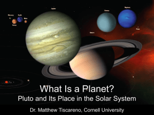What Is a Planet? Pluto and Its Place in the Solar System