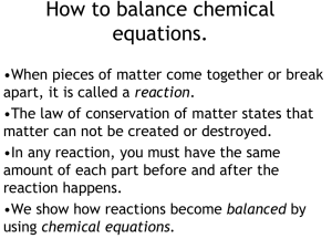 How to balance chemical equations.