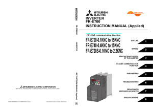 FR-E700 INSTRUCTION MANUAL (Applied)