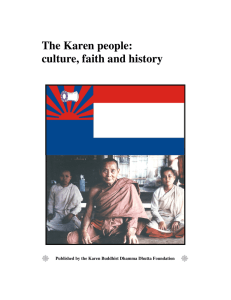 The Karen people: culture, faith and history