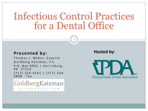 the Infection Control Webinar PowerPoint Presentation.