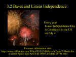 3.2 Subspaces Bases and Linear Independence