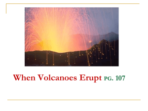 Three basic types of volcanoes