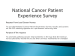 National CANCER Patient Experience Survey