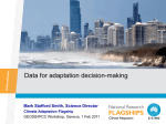 Data for adaptation decision-making