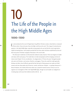 The Life of the People in the High Middle Ages