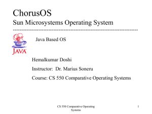 ChorusOS Sun Microsystems Operating System