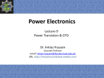 Power Electronics - Dr. Imtiaz Hussain