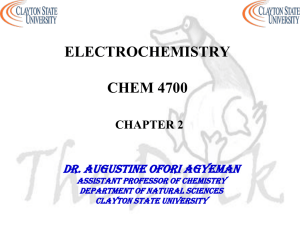 cyclic voltammetry - Clayton State University