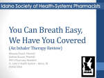 An Inhaler Therapy Review - Idaho Society of Health