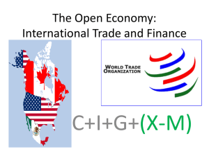 The Open Economy: International Trade and Finance
