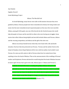 Greek Mythology research essay hb