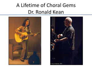 A Lifetime of Choral Gems