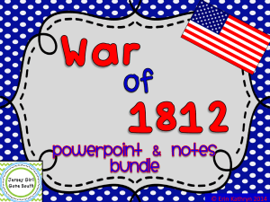 War of 1812 - 4th Grade Page