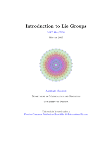 Introduction to Lie Groups