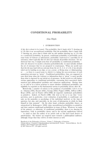 conditional probability - ANU School of Philosophy