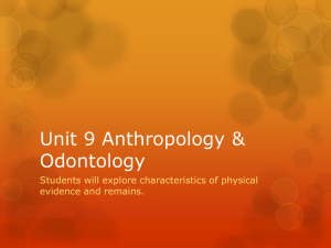 Anthropology_Odontology