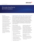 Brocade Mainframe BC/DR Solution solution brief