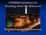 USHMM Guidelines for Teaching about the Holocaust