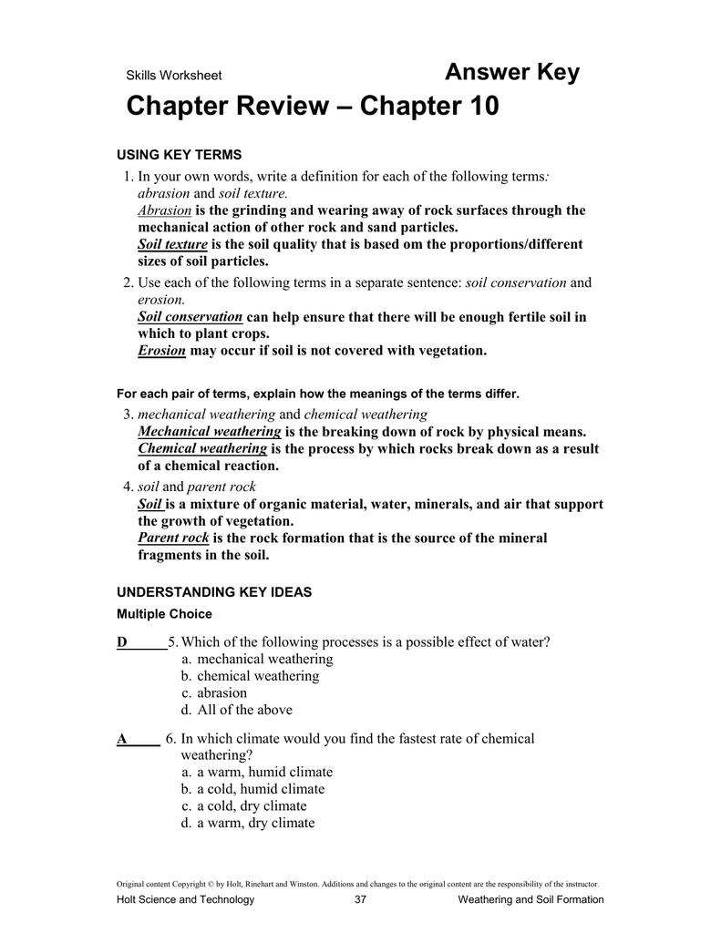 Holt Chemistry Worksheet Answers - Worksheet List