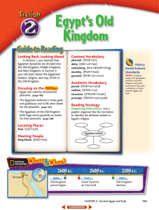 Egypt`s Old Kingdom - 6th Grade Social Studies