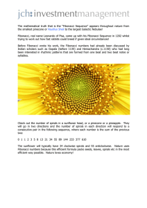 "The mathematical truth that is the ""Fibonacci Sequence"" appears"