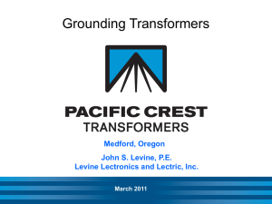 IEEE Grounding Transformers - Levine Lectronics and Lectric