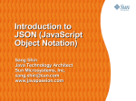 Introduction to JSON (JavaScript Object Notation)