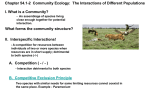 The Interactions of Different Populations I. What is a Community?