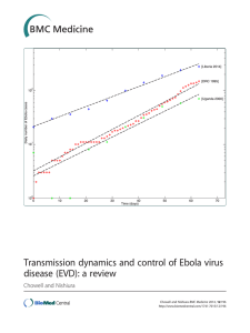 Transmission dynamics and control of Ebola virus