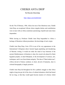 Cheikh Anta Diop and Two Cradle Analysis