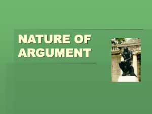 Nature of Argument PPT