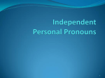 Independent Personal Pronouns
