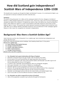 Scottish Wars of Independence 1286–1328