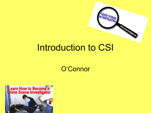 Introduction to Criminal Investigations
