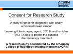 Consent for Research Study A study for patients diagnosed with