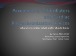 MACVPR Springcon 2016 Pacemakers Defibrillators and Cardiac