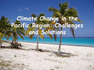 Impacts of Climate Change in the Pacific