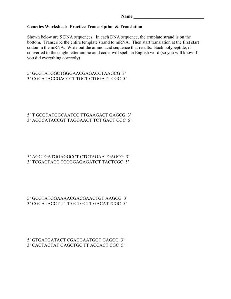 The Single Letter Amino Acid Code
