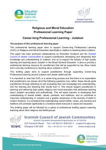 Professional Learning Paper about Judaism