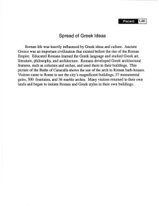 Spread of Greek Ideas