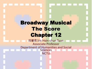 Broadway Musical The Score Chapter 12