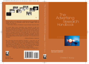 Advertising Research Handbook - Dr. Robert Davis (Ph.D) FCIM (UK)