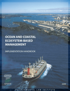 ocean and coastal ecosystem-based management