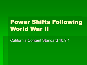 Power Shifts Following World War II