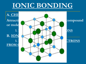 ionic bonding - Old Saybrook Public Schools