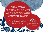 Promoting the health of men who have sex with men