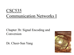 CSC 335 Data Communications and Networking I